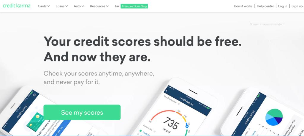 クレジットスコアモニタリングを提供する Credit Karma