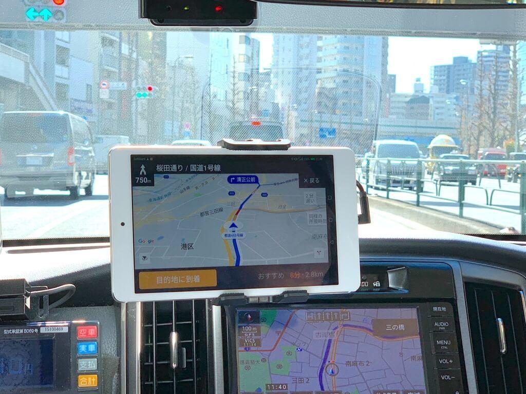 DiDi の運転手さん用のタブレット画面(許可を得て撮影)