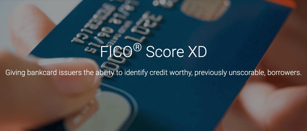 クレジットヒストリーがない人のためのクレジットスコア「FICO Score XD」