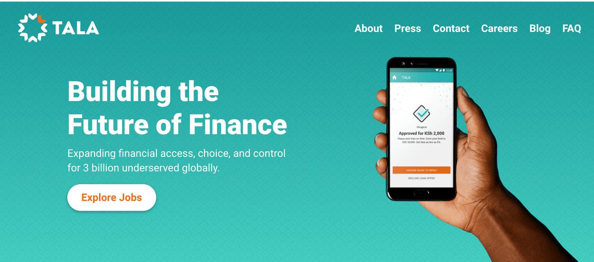 ケニアを中心に個人向け融資事業を展開するTala