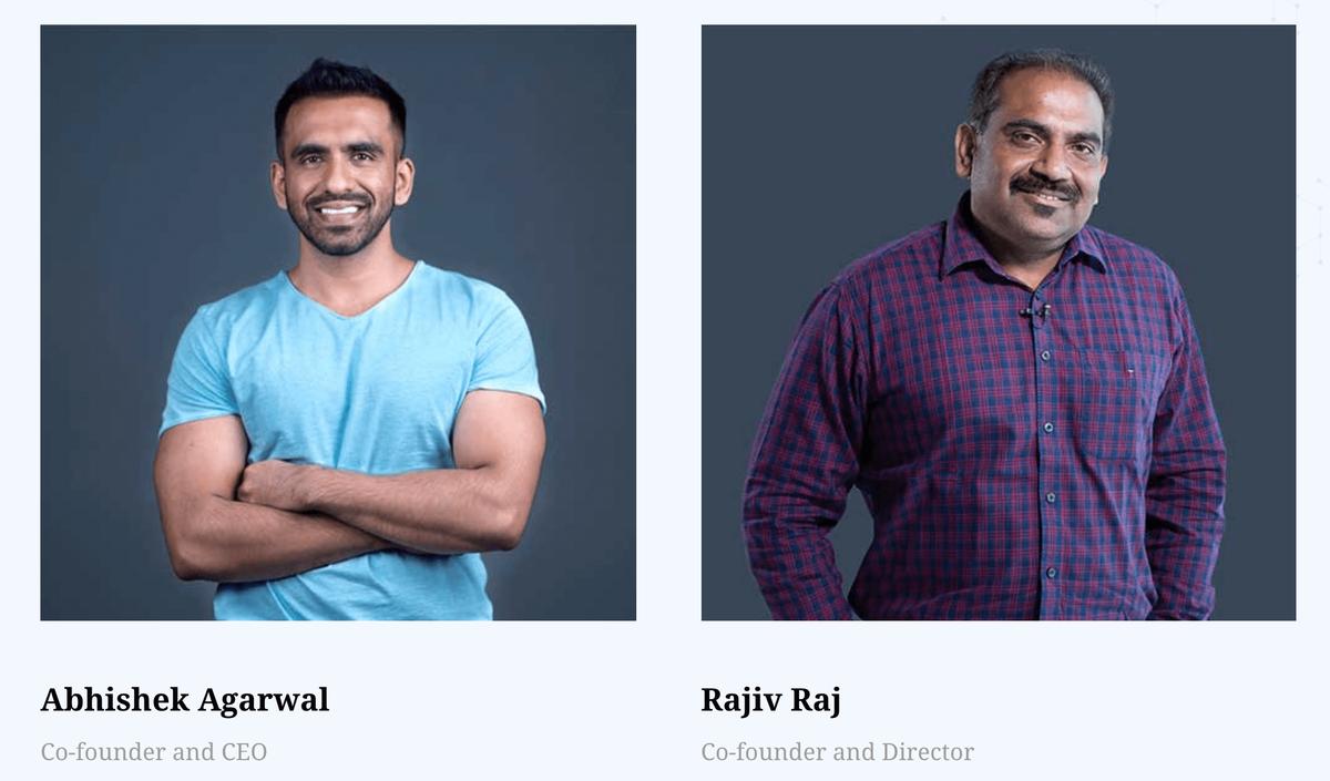 共同創業者のAbhishek Agarwal 氏と Rajiv Raj 氏