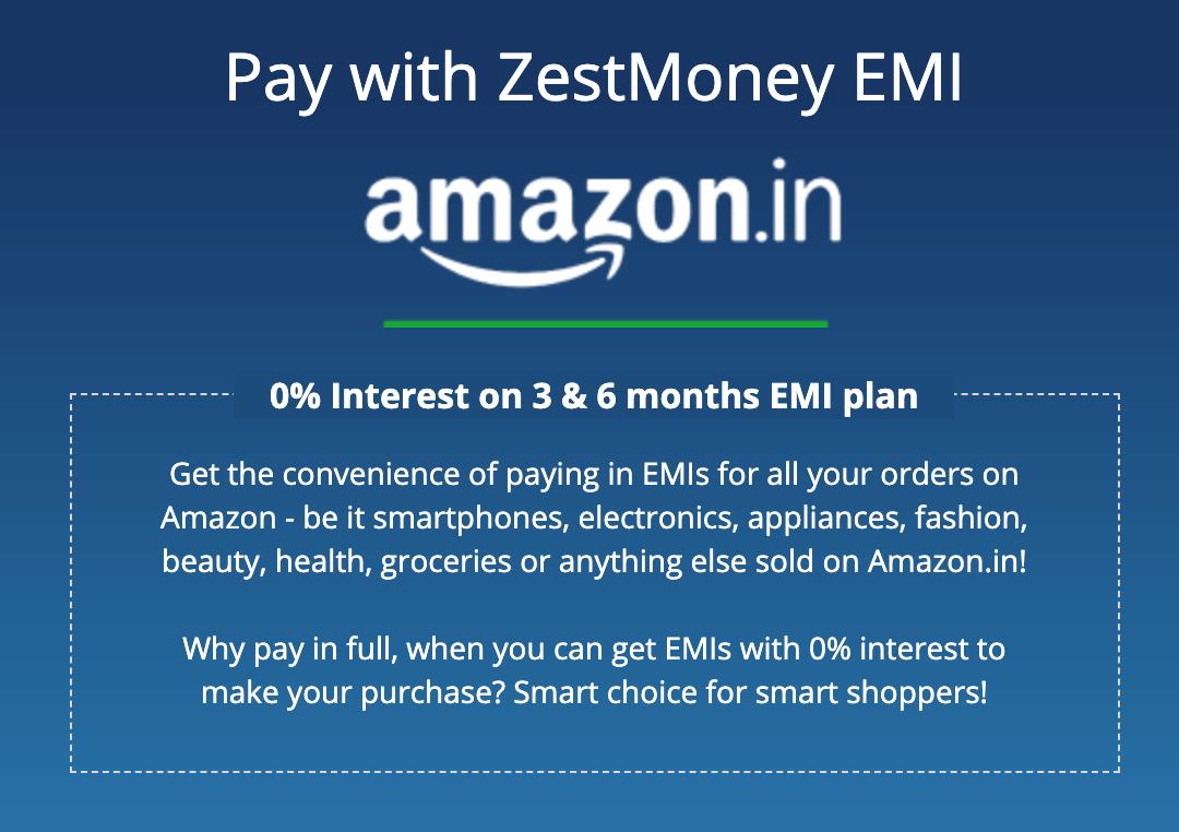 AmazonにおけるZestMoneyの利用