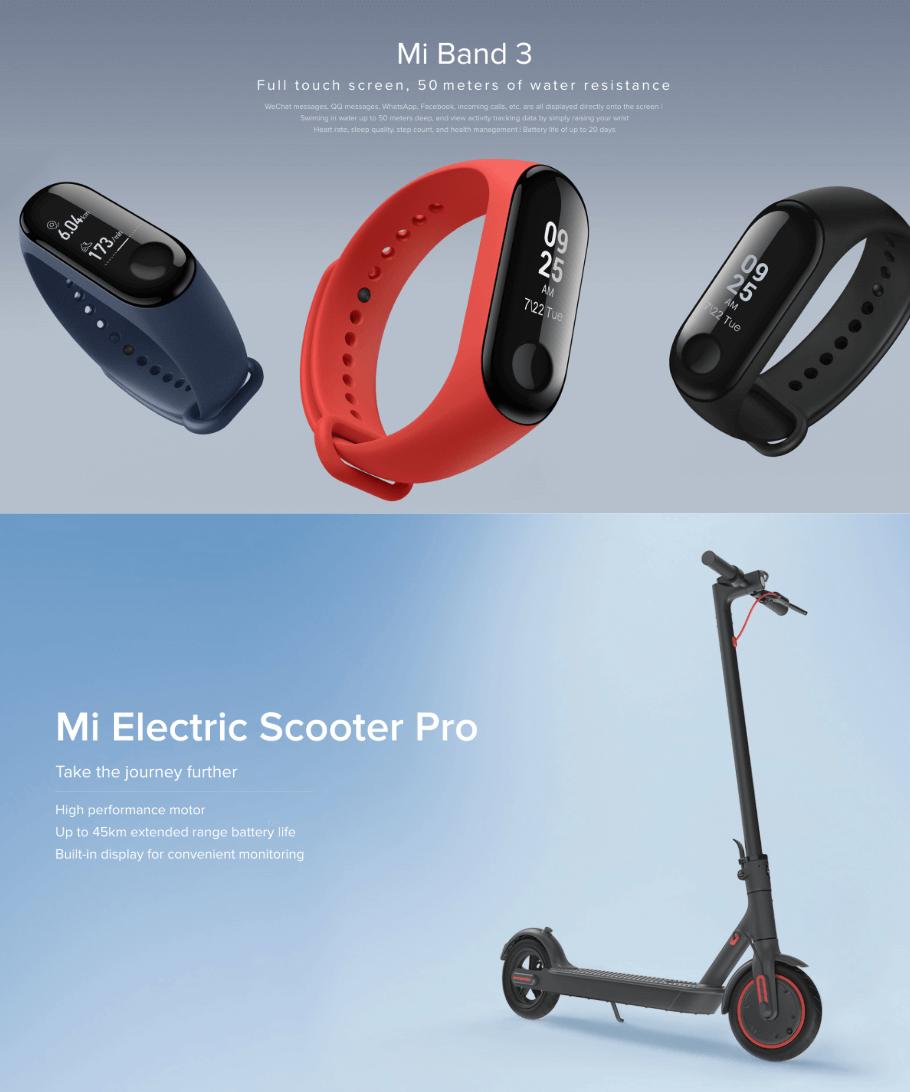 スマートウォッチの「Mi-Band」や電動スクーターの「Mi Electric Scooter Pro」