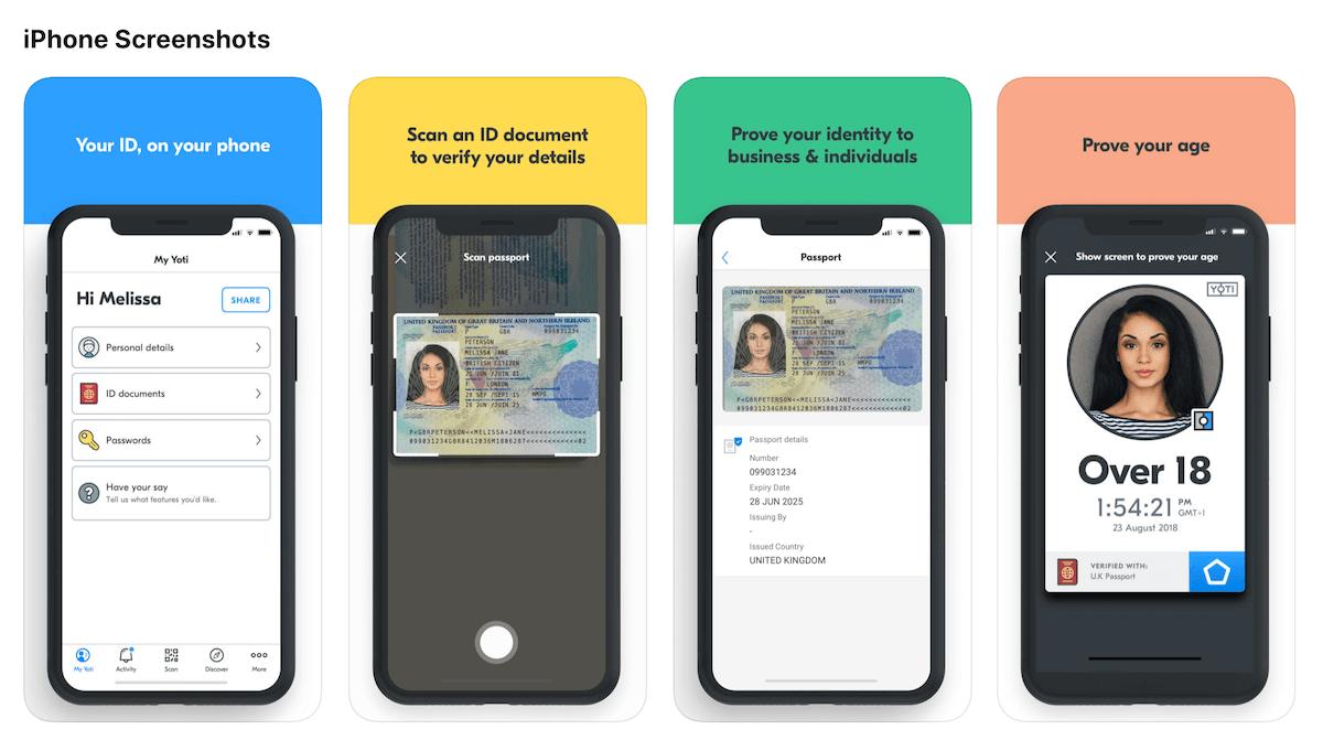Yoti アプリのアイデンティティ証明の仕組み