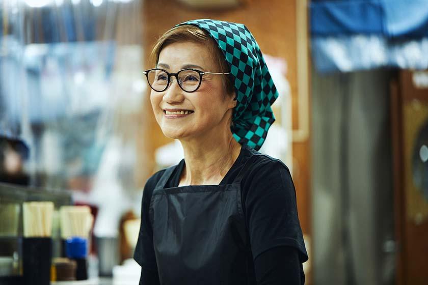 昭和35年創業の老舗『おにぎり ぼんご』の2代目店主、右近由美子さん