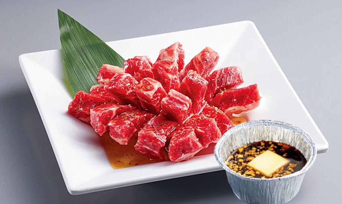 花咲上ロース〜ガリバタ醤油〜/焼肉キング公式サイトより