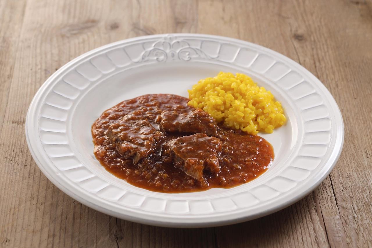 牛すね肉の煮込み〜ミラノ風〜&サフランリゾット(ピアットミラネーゼセット)