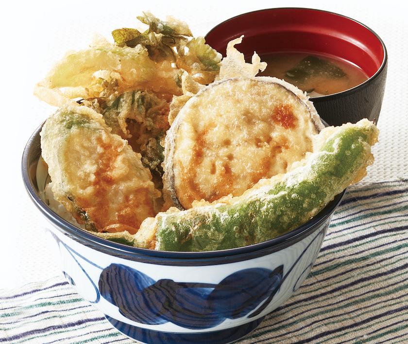 てんや2021年夏限定メニュー「国産夏野菜の天丼」