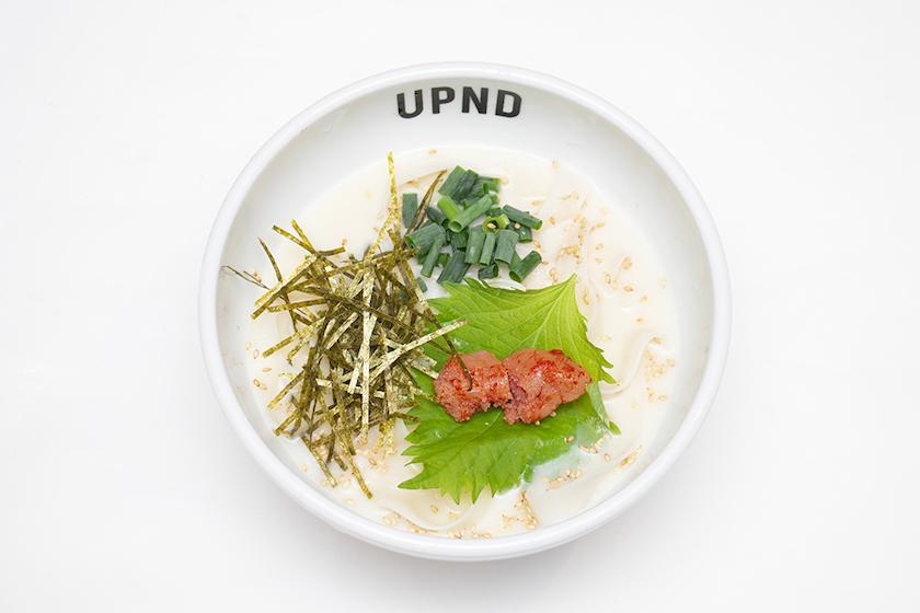「UP Noodle TOKYO」の「明太と大葉のクリームフォー」