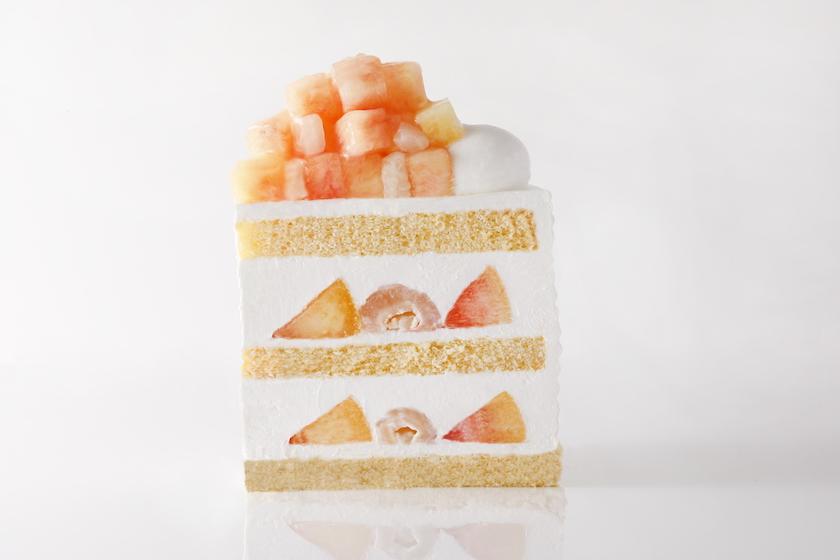 ホテルニューオータニの期間限定商品「新エクストラスーパーピーチショートケーキ