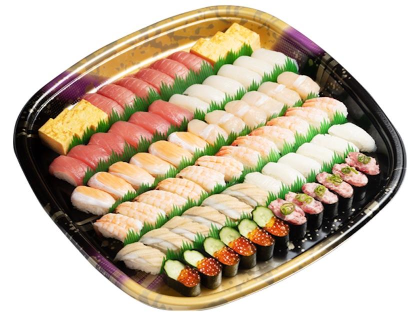 かっぱ寿司の『賑わいセット』6人前