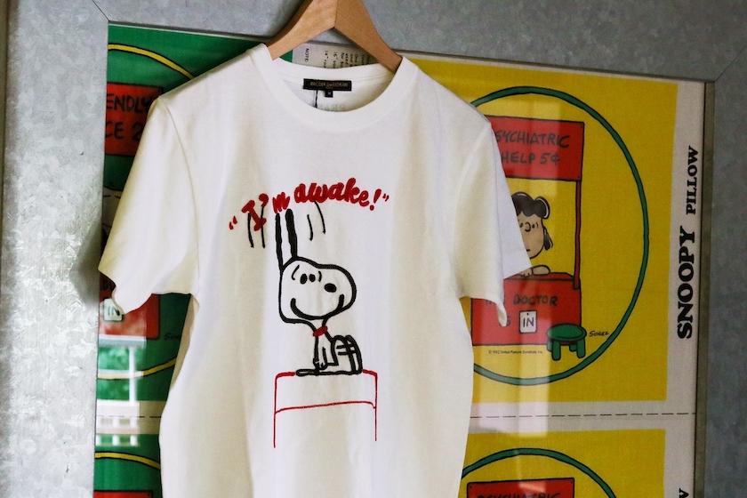 PEANUTS Cafe SUNNY SIDE kitchenの 100着限定のチェーンステッチTシャツ