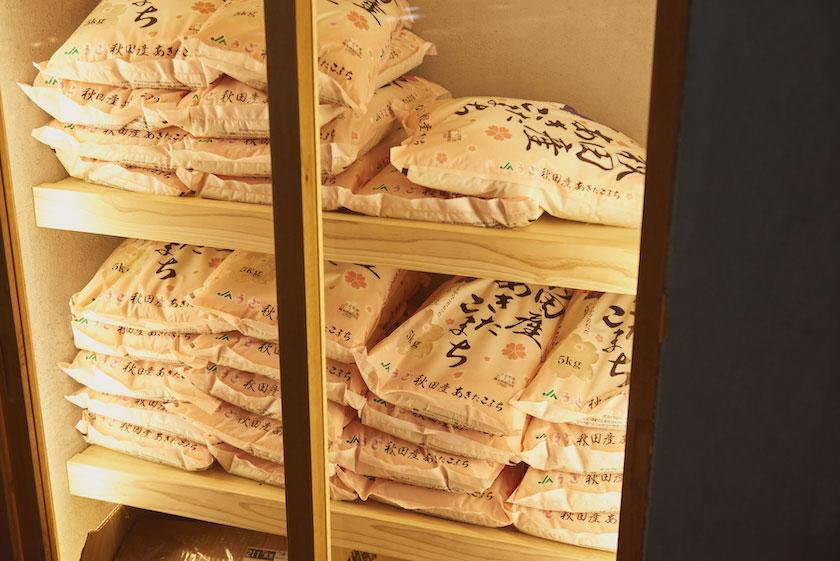 「挽肉と米」にて使用される米・秋田県産「あきたこまち」