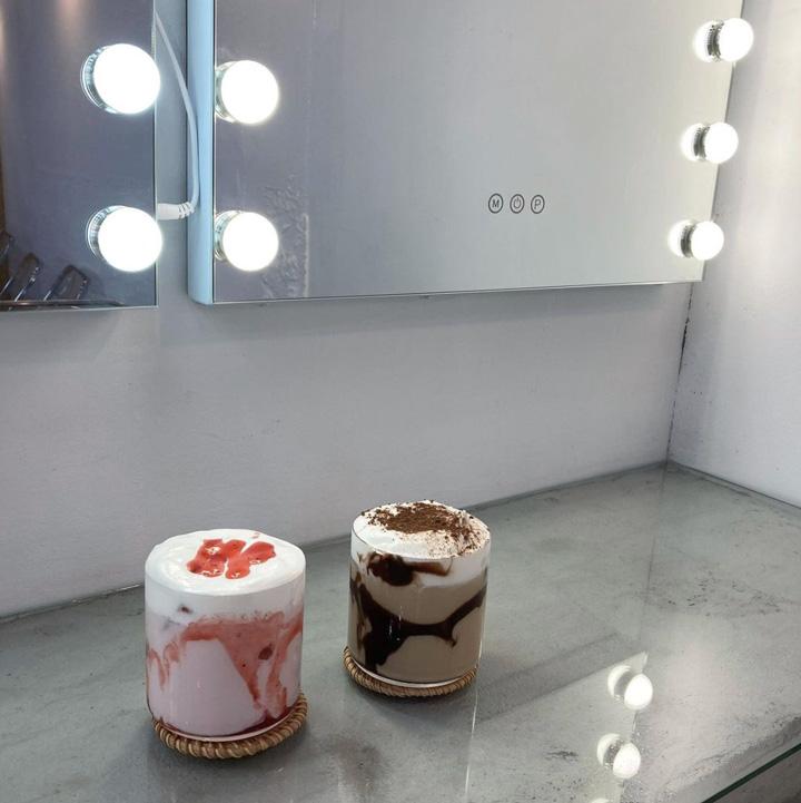 公式Instagramより(左:タルギウユ、右:チョコレートラテ)