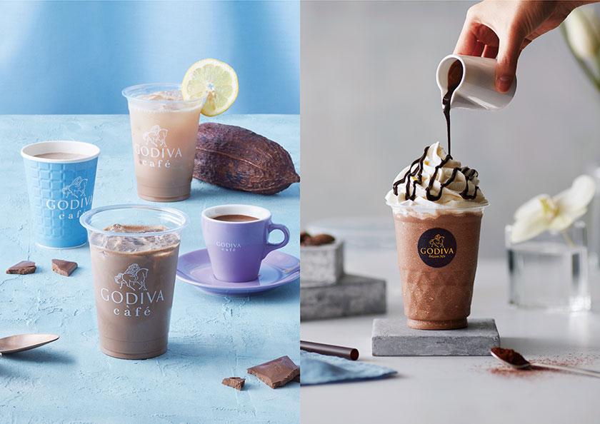 ゴディバで大人気のチョコレートドリンク「ショコリキサー」をはじめとするドリンクメニューイメージ