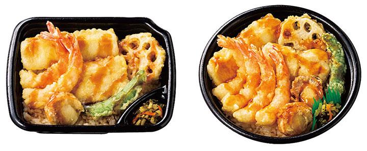 海鮮天丼 560円(税込)、右:上・海鮮天丼 690円(税込)