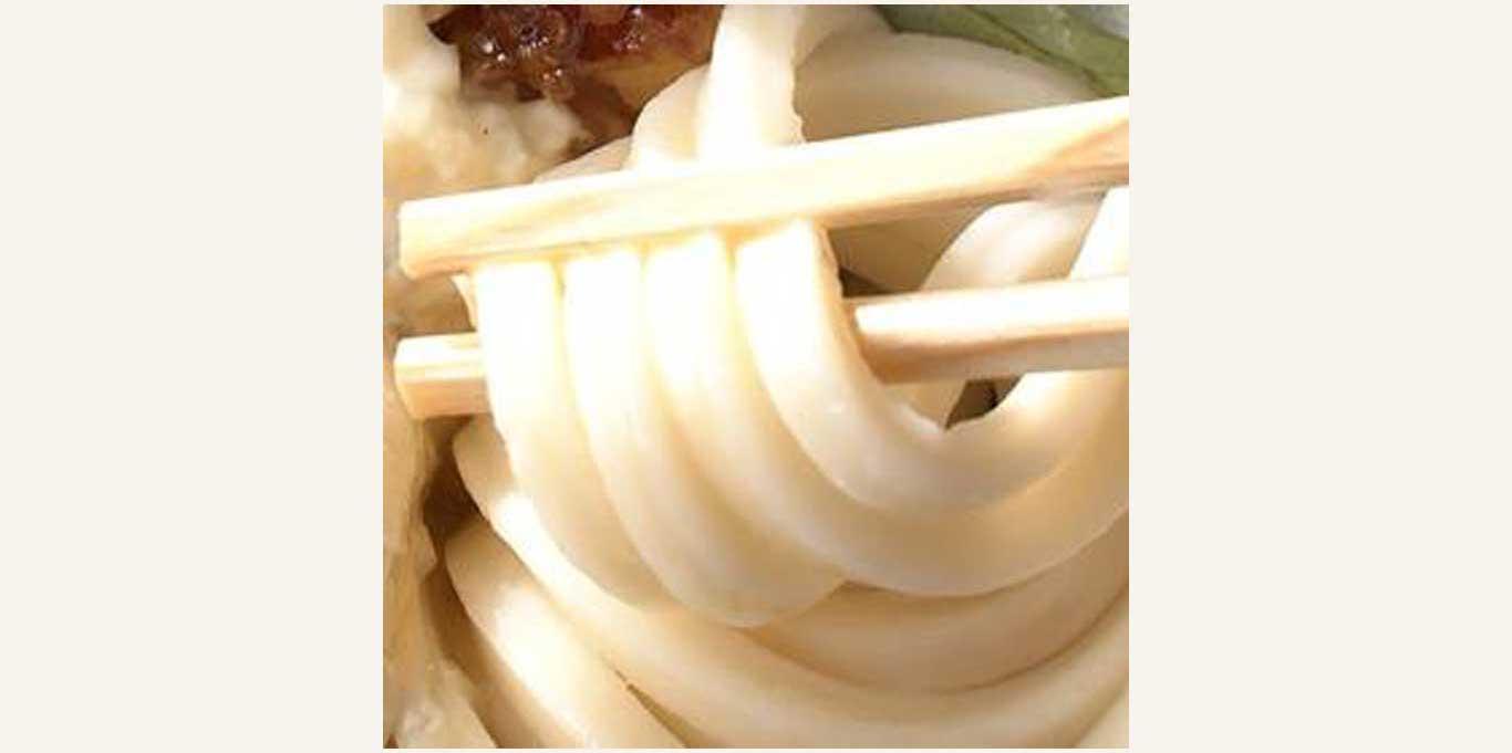 丸亀製麺「タル鶏天ぶっかけうどん」のうどん