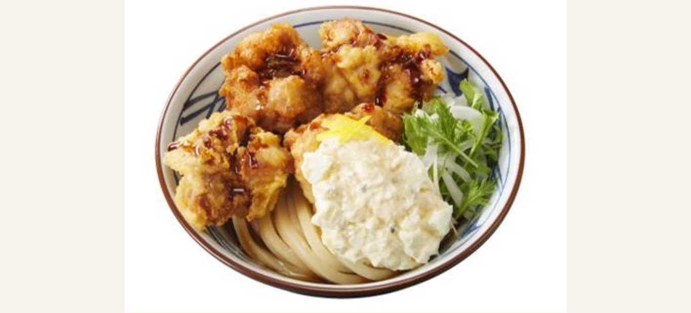 丸亀製麺のタル鶏天ぶっかけうどん