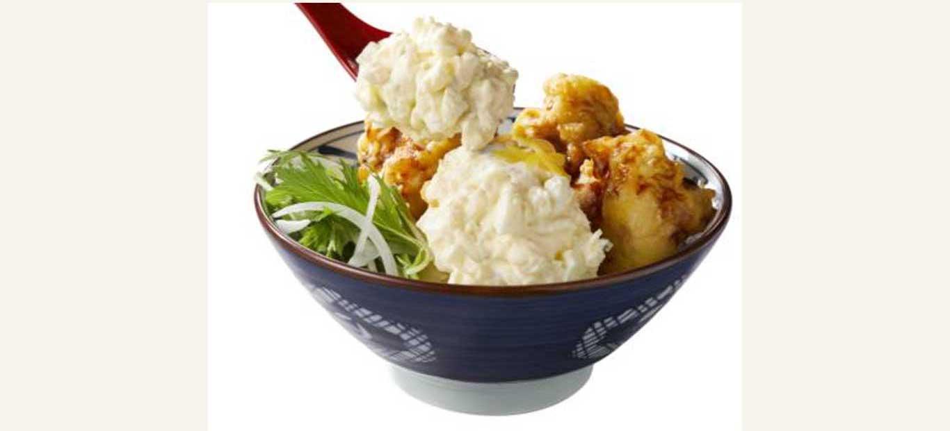 丸亀製麺「タル鶏天ぶっかけうどん」の追いタルタルソース