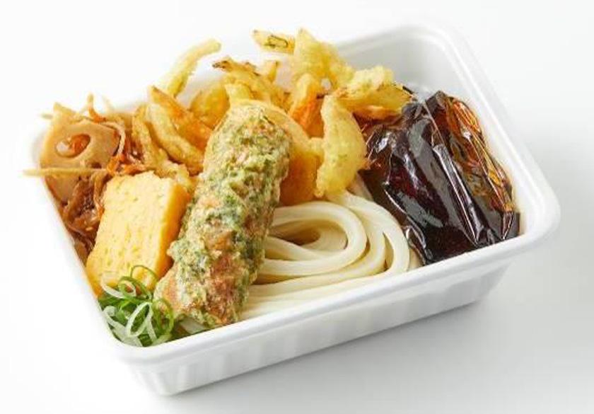 丸亀製麺『2種の天ぷらと定番おかずのうどん弁当』