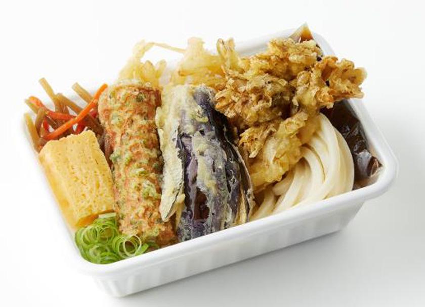丸亀製麺『秋野菜の天ぷらと定番おかずのうどん弁当』