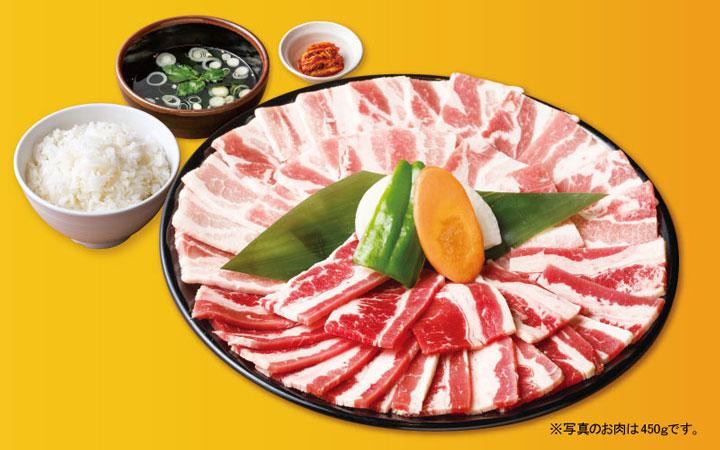 もりもりWカルビ定食 2,068円(税込)<300g>