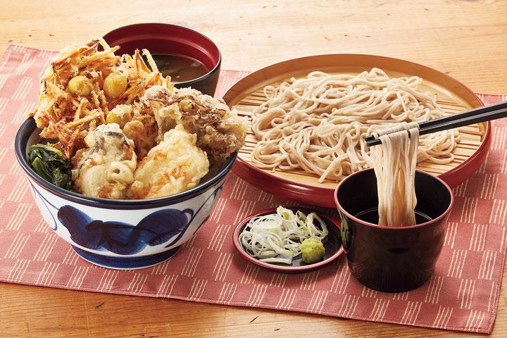 国産秋天丼サービスセット 1,080円(税込)