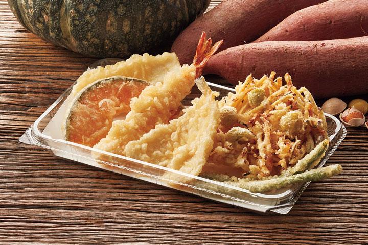 秋味のかき揚げ+天ぷら盛合わせ
