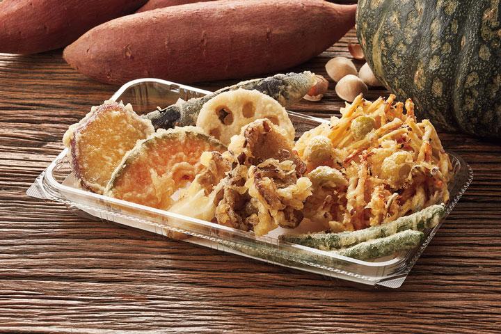 秋味のかき揚げ+野菜天ぷら盛合わせ