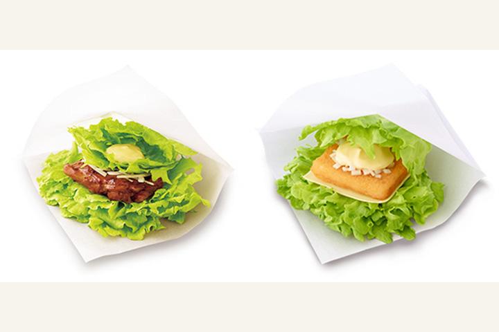 左:モスの菜摘 テリヤキチキン 右:モスの菜摘 フィッシュ 公式HPより