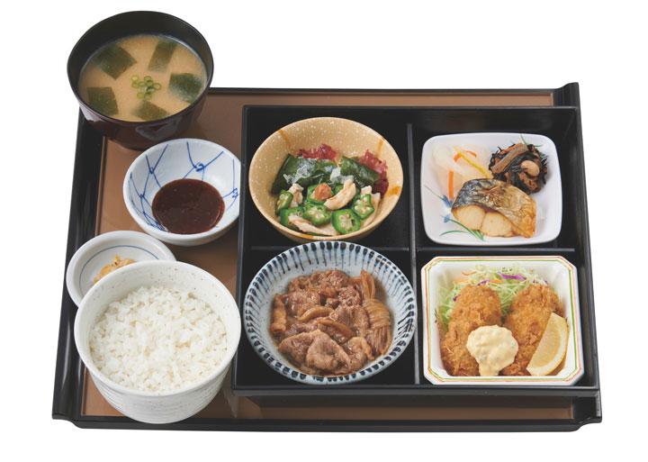 かきフライ御膳 990円(税込)