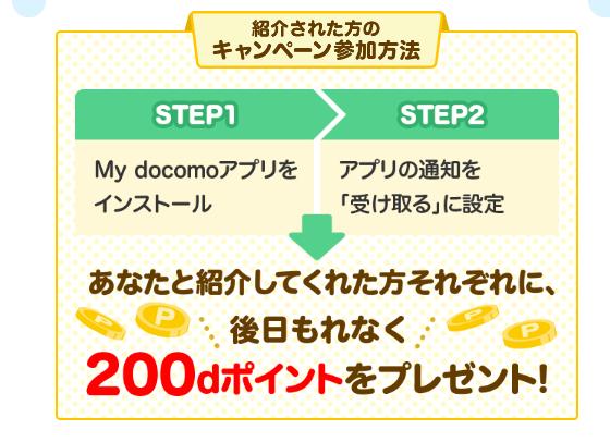 Mydocomoのアプリインストールだけでもれなく200P