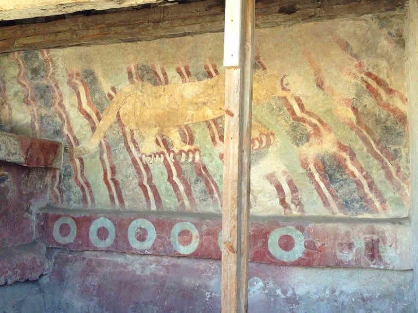 ピューマの壁画