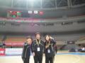 第2回アジア選手権優勝後 メディカルスタッフで記念撮影(後ろの国