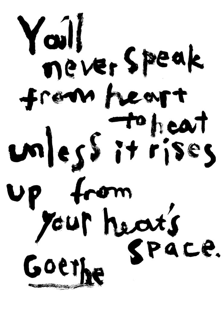 Goethe(ゲーテ)の英語の詩の書作品(You'll never speek)画像