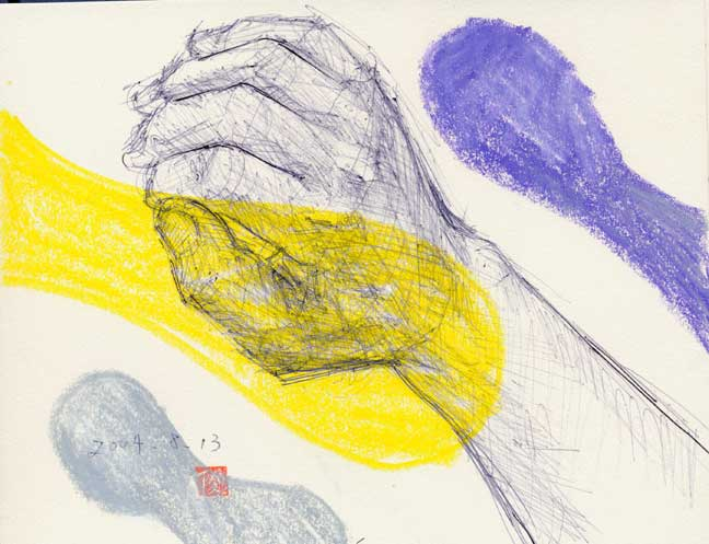 置いた手の素描