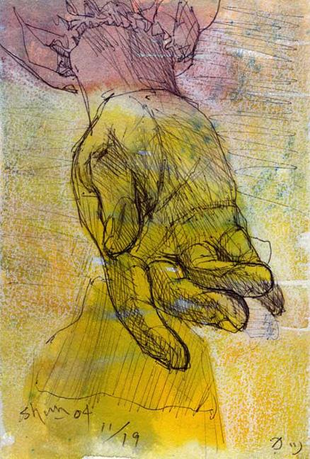 母の手の素描
