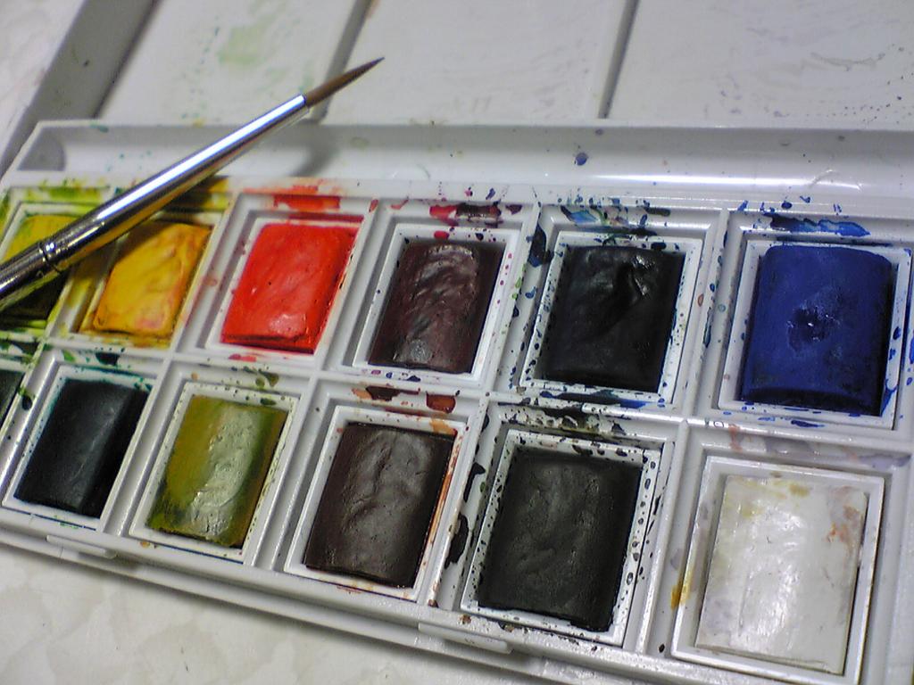 ウィンザー&ニュートン・コットマンハーフパン固形水彩12色の写真
