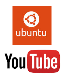 ubuntu&youtubeのロゴ画像