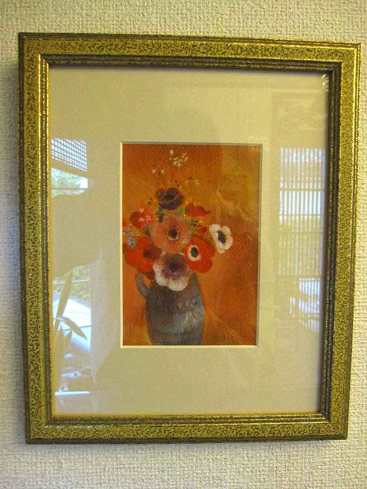 ルドンの花の絵の模写の絵
