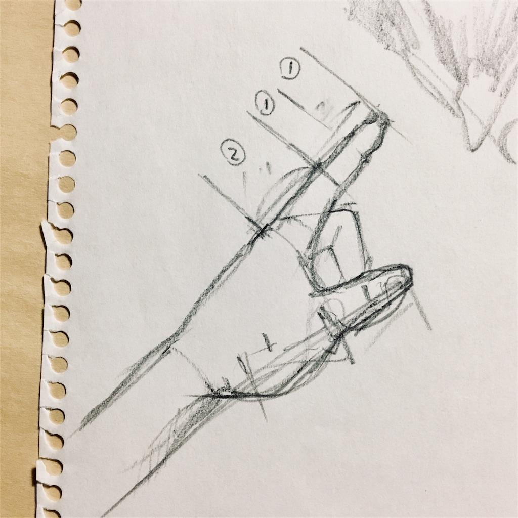 手のフィボナッチ数列の絵