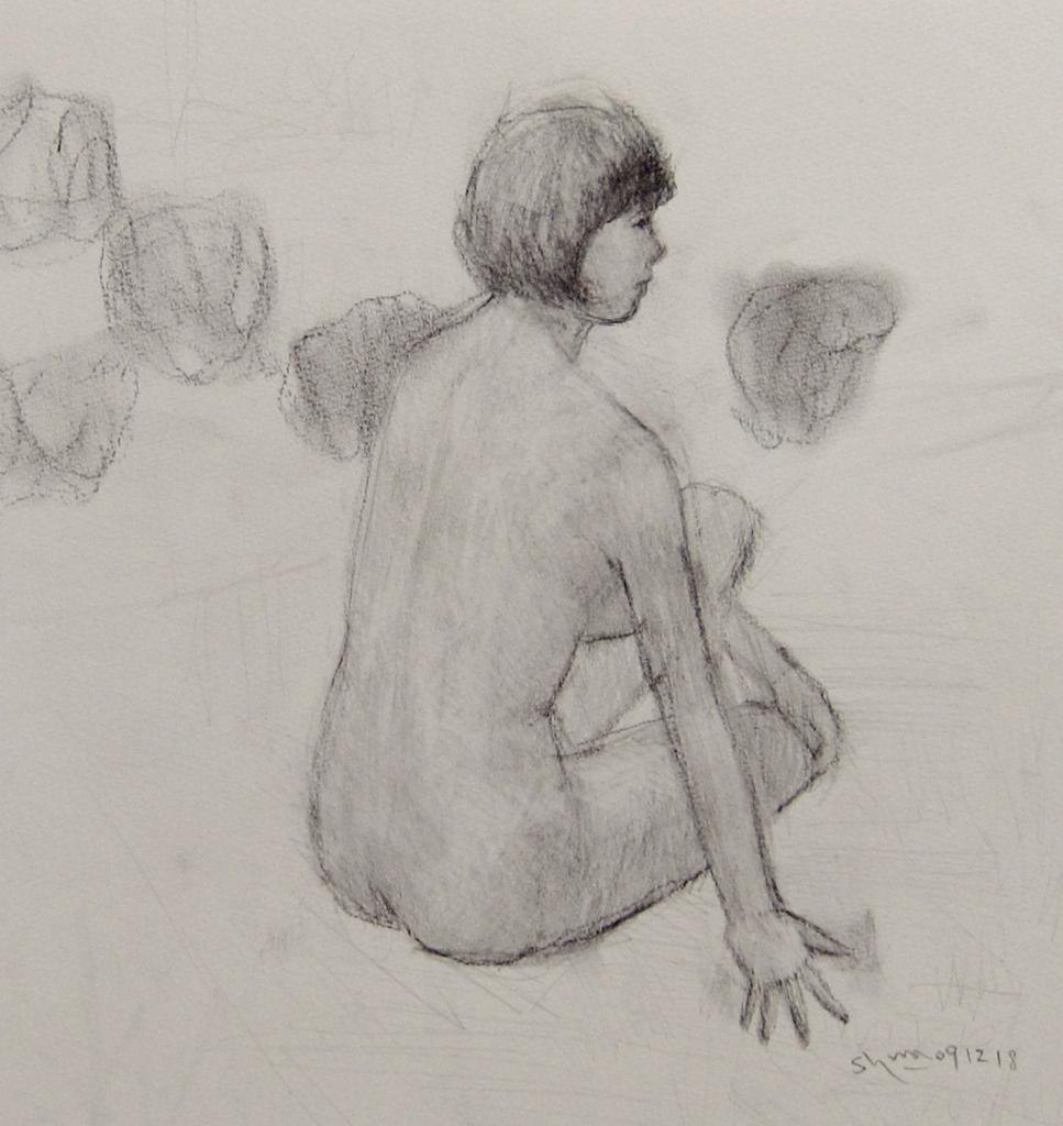 裸婦の素描