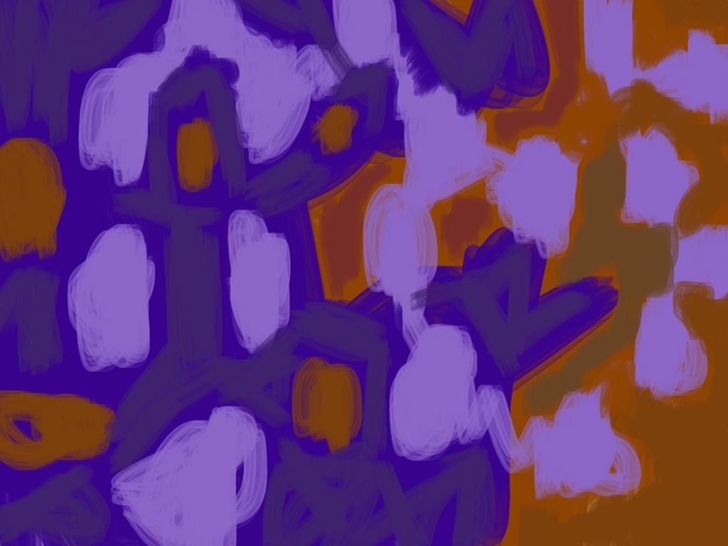 紫の色ぬり絵のデジタル作品画像