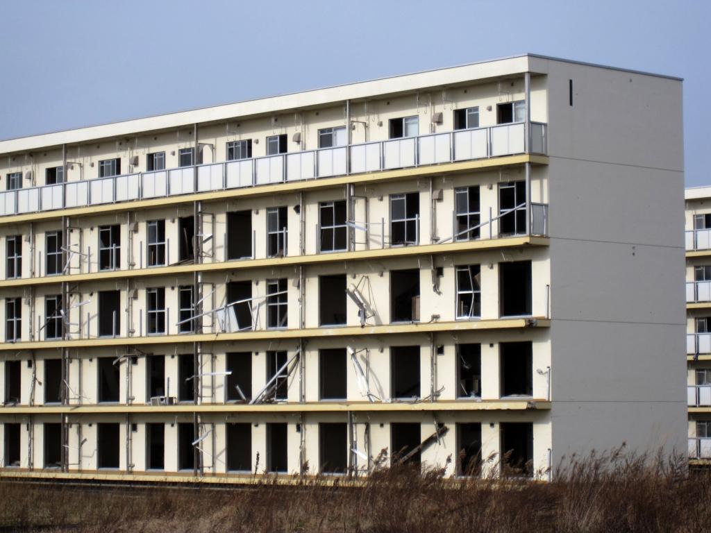 東日本大震災で津波で被災した住宅の写真