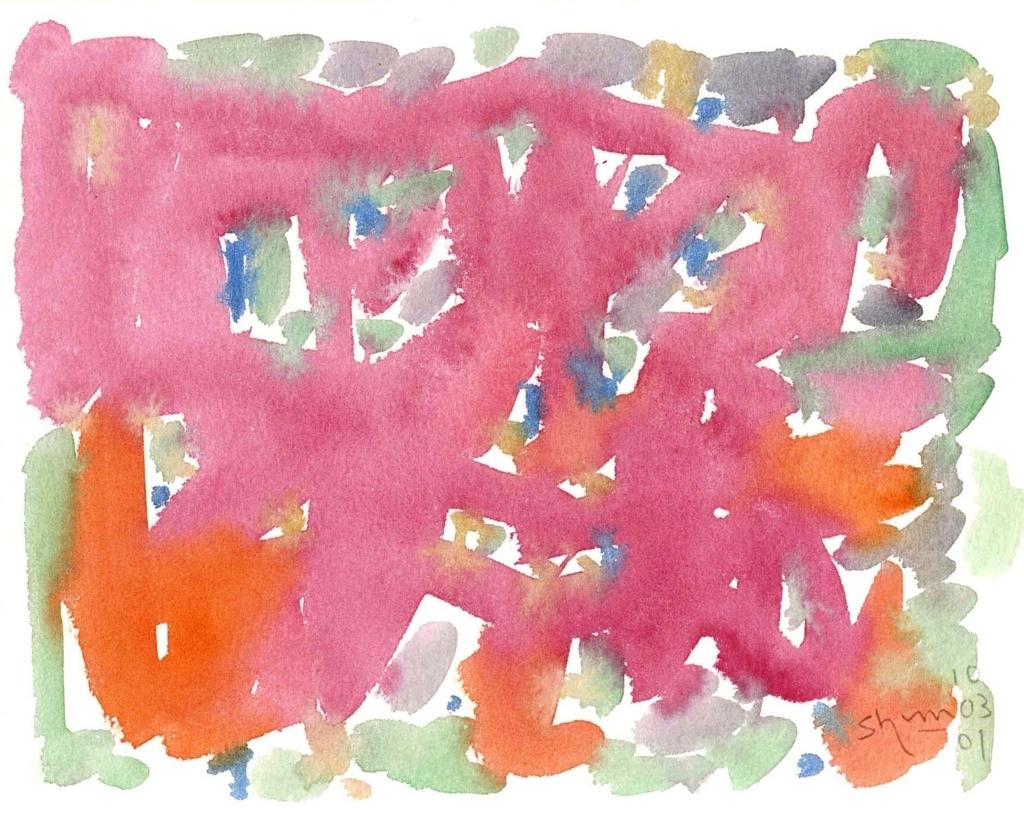 ピンクの絵