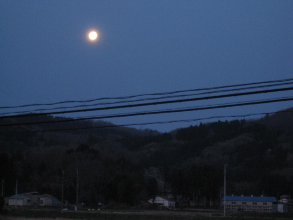 仙台で見た月の写真