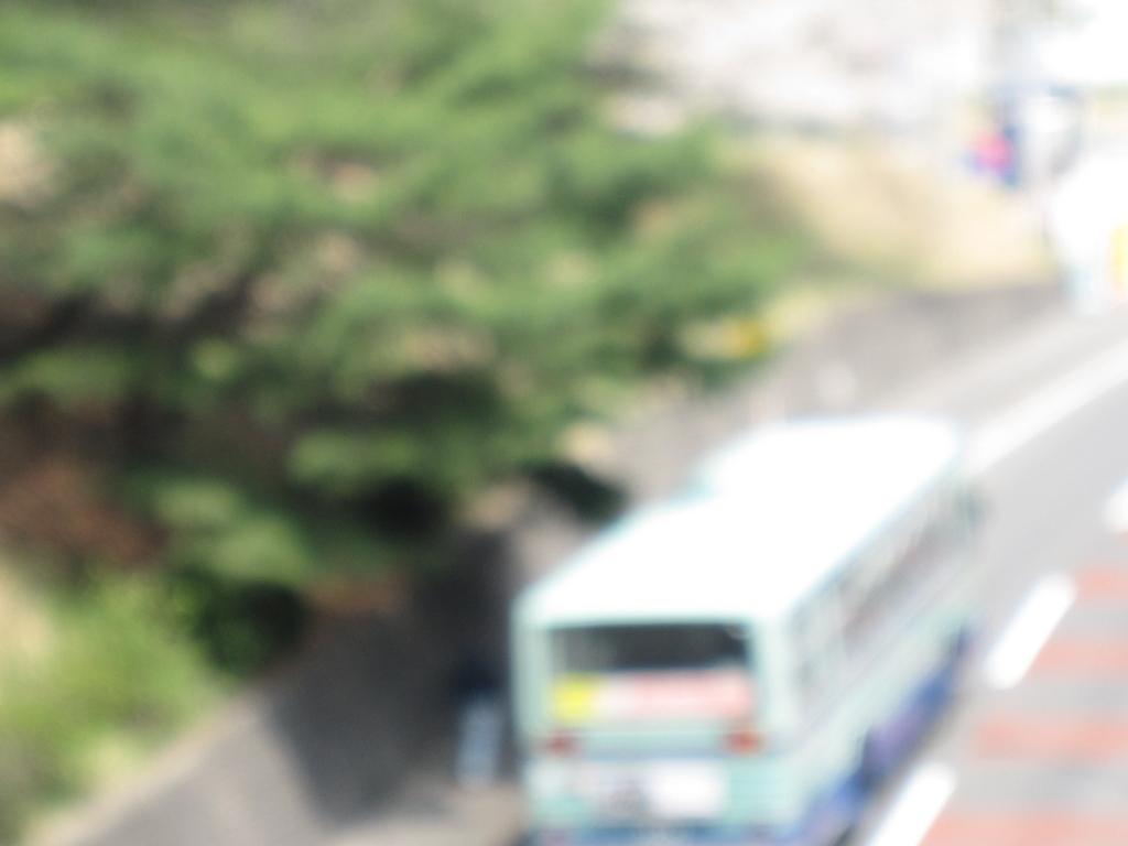 バスのぼやけた写真