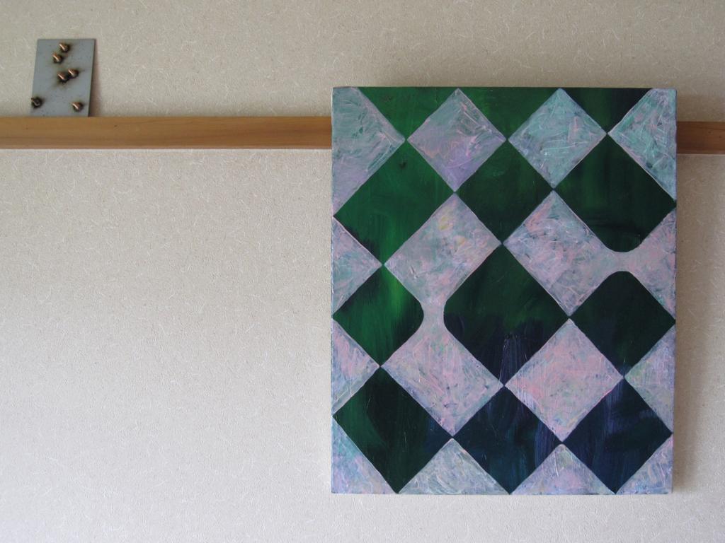 市松模様のぬり絵の作品画像