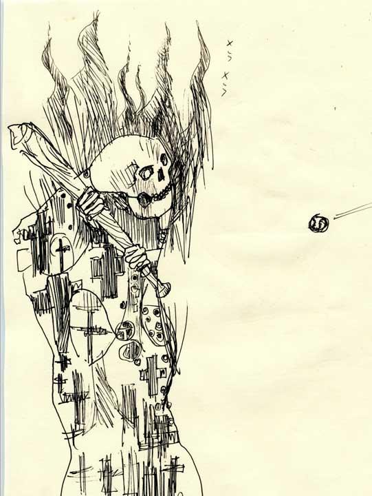 クリムトの模写のスケッチ画