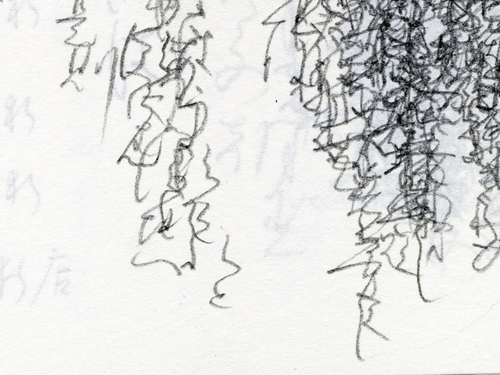 文字を練習した筆跡